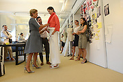 MANHATTAN, NEW YORK, AUGUST 7, 2014. Fashion designer Carolina Herrera is seen during a pre-fashion week fitting at her offices in Manhattan, NY. 8/7/2014 Photo by Jennifer S. Altman/For The New York Times