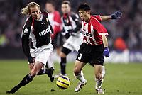 Fotball<br /> Champions League 2004/05<br /> PSV v Monaco<br /> 22. februar 2005<br /> Foto: Digitalsport<br /> NORWAY ONLY<br /> JAROSLAV PLASIL (MON) / YOUNG PYO LEE (PSV)