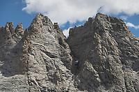 Rugged cliffs of Mount Bonneville. Bridger Wilderness, Wind River Range Wyoming