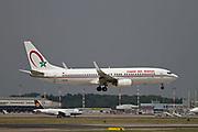 CN-ROL Royal Air Maroc (RAM), Boeing 737-8B6 at Malpensa (MXP / LIMC), Milan, Italy