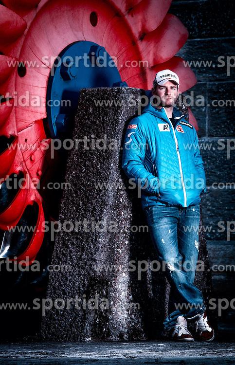 14.10.2013, Verbund, Kaprun, AUT, Georg Streitberger im Portrait, im Bild der österreichische Skirennläufer Georg Streitberger bei einem Fototermin // the Austrian alpine skier Georg Streitberger during a photocall at Kaprun, Austria on 2013/10/14. ***** EXKLUSIVES BILDMATERIAL ****** . EXPA Pictures © 2013, PhotoCredit: EXPA/ Juergen Feichter