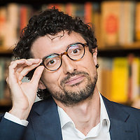 """Brussels, Belgium 23 April 2015<br /> European Prize for Literature Pierre Mejlak launched the English translation of his short story collection """"Having Said Goodnight"""" at Waterstones bookshop in Brussels.<br /> Photo: Ezequiel Scagnetti"""