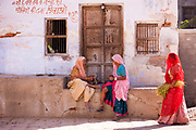 Indian local women in Narlai village in Rajasthan, Northern India