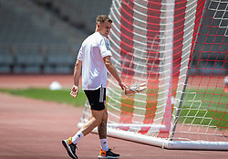 BAKU, AZERBAIJAN - Tuesday, June 8, 2021: Wales' Aaron Ramsey during a training session at the Tofiq Bahramov Republican Stadium on day one of their UEFA Euro 2020 tournament. (Pic by David Rawcliffe/Propaganda)