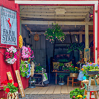 Rural Massachusetts landscape photography of a beautiful red country barn and New England farmstand in Sudbruy, MA.<br /> <br /> New England farm stand at the Longfellow's Wayside Inn Historic District Red Old Barn photography images are available as museum quality photography prints, canvas prints, acrylic prints, wood prints or metal prints. Fine art prints may be framed and matted to the individual liking and decorating needs:<br /> <br /> https://juergen-roth.pixels.com/featured/new-england-farm-stand-juergen-roth.html<br /> <br /> Good light and happy photo making!<br /> <br /> My best,<br /> <br /> Juergen