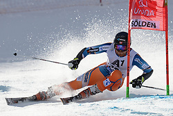 27.10.2013, Rettenbach Ferner, Soelden, AUT, FIS Weltcup, Ski Alpin, Riesenslalom, Herren, 1. Durchgang, im Bild Leif Kristian Haugen from Norway // Leif Kristian Haugen from Norway in action during 1st run of mens Giant Slalom of the FIS Ski Alpine Worldcup opening at the Rettenbachferner in Soelden, Austria on 2012/10/27. EXPA Pictures © 2013, PhotoCredit: EXPA/ Mitchell Gunn<br /> <br /> *****ATTENTION - OUT of GBR*****