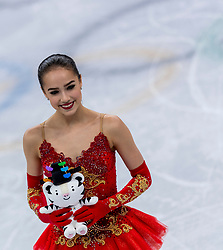 GANGNEUNG, SOUTH KOREA - FEBRUARY 23: Gold medalist Alina Zagitova of Olympic Athlete from Russia during the venue victory ceremony following the Figure Skating Ladies Free program on day fourteen of the PyeongChang 2018 Winter Olympic Games at Gangneung Ice Arena on February 23, 2018 in Gangneung, South Korea. Photo by Ronald Hoogendoorn / Sportida