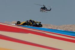 April 7, 2018 - Sakhir, Bahrain - Motorsports: FIA Formula One World Championship 2018, Grand Prix of Bahrain, Helicopter#55 Carlos Sainz (ESP, Renault  (Credit Image: © Hoch Zwei via ZUMA Wire)