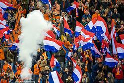 05-04-2019 NED: Netherlands - Mexico, Arnhem<br /> Friendly match in GelreDome Arnhem. Netherlands win 2-0 / Dutch support, flags
