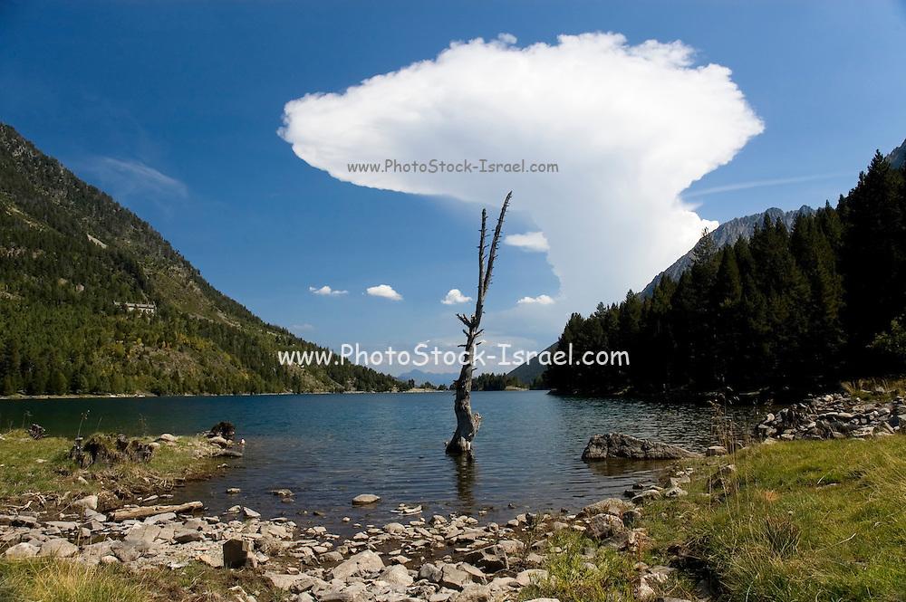 Spain, Pyrenees mountains Anvil Cloud