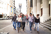 SAN FRANCISCO, CA – JANUARY 13, 2016: Minerva college students explore San Francisco during their first year of enrollment.<br /> <br /> Minerva is a unique 21st century university built on a global four-year education model. It is deliberately designed to enhance intellectual growth and prepare students for success in today's rapidly changing global context. Founded in 2014, the university targets the developing world's rising middle class who seek an elite American education. With a 2.8% acceptance rate among the founding class, Minerva is the most selective undergraduate program in U.S. history.
