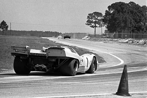 Porsche 917K at 1971 Sebring 12 Hour race; PHOTO BY Pete Lyons 1971 / © 2014 www.petelyons.com