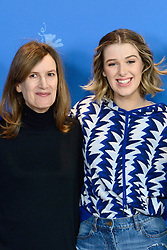 Joanna Hogg and Honor Swinton-Byrne attending The Souvenir Photocall as part of the 69th Berlin International Film Festival (Berlinale) in Berlin, Germany on February 12, 2019. Photo by Aurore Marechal/ABACAPRESS.COM