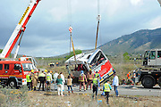 March 20, 2016 - Barcelona, Catalonia, Spain - <br /> The bus, crashed returning from ''Fallas'', a festivity in Valencia, carried university Erasmus students from 19 countries. 13 young women dead in te accident and several people are injured, in Freginals, Catalonia, 20th of March 2016. <br /> ©Exclusivepix Media