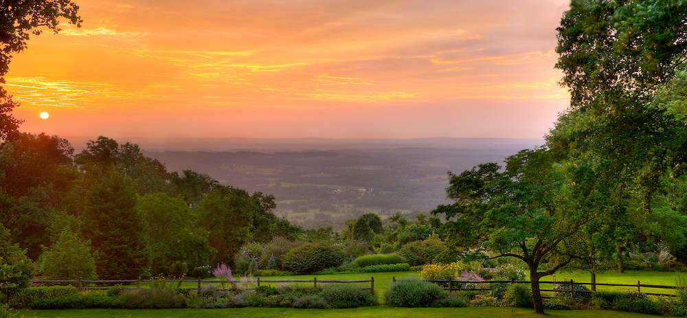 Panoramic photograph of spectacular view of Blue Ridge Mountains in Virginia.