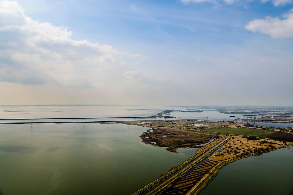 Nederland, Noord-Brabant, Bergen op Zoom, 01-04-2016; Zoommeer zoetwaterbuffer en opvangbassin voor oppervlaktewater bij hoogwater. Schelde-Rijnkanaal en Molenplaat, Bergsche Diep. Oosterschelde aan de horizon.<br /> Zoommeer freshwater buffer and mergency basin for surface water at high tide.<br /> <br /> luchtfoto (toeslag op standard tarieven);<br /> aerial photo (additional fee required);<br /> copyright foto/photo Siebe Swart