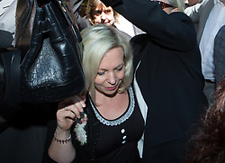 Image ©Licensed to i-Images Picture Agency. 04/07/2014. London, United Kingdom. Bindi Harris leaves court after her father is sentenced tofive years and nine months in jail. Southwark Crown Court. Picture by Daniel Leal-Olivas / i-Images