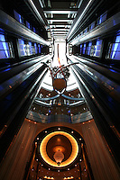 Celebrity Silhouette. Celebrity cruises' new ship launched in Hamburg 21st July 2011..Interior feature photos..Lift Atrium.