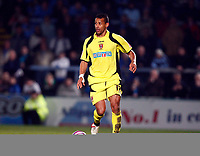 Marc Joseph of Rotherham United. Wycombe Wanderers Vs Rotherham  United at Adams Park High Wycombe  Football League Div 2<br /> 23/02/2009. Credit Colorsport  / Kieran Galvin