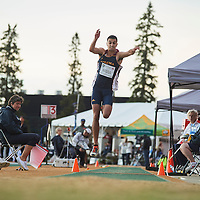 Patrick Hanna competes in the men's Triple Jump