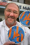 Geir Andresen, meieribestyrer ved Tines anlegg i Selbu, som har all blåmuggost i landet produsert av Tine.