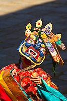 Masked dancers at the Paro Tsechu (Festival), Paro, Bhutan