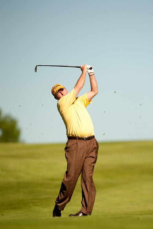 Scott Hoch. 2009 Senior PGA Championship, Round 1. Phhotographed at Canterbury Golf Club in Beachwood, Ohio on Thursday, May 21 2009. Photograph © 2009 Darren Carroll