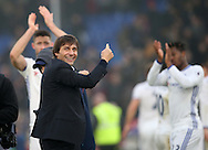 Chelsea's Antonio Conte points the crowds applauds to his players during the Premier League match at Selhurst Park Stadium, London. Picture date December 17th, 2016 Pic David Klein/Sportimage