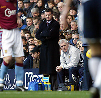 Photo: Chris Ratcliffe.<br />Tottenham Hotspur v Aston Villa. The Barclays Premiership. 21/01/2006.<br />David O'Leary watches on from the sidelines.