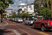 Taxis<br /> Puerto Ayora<br /> Santa Cruz Island<br /> Galapagos<br /> Ecuador, South America