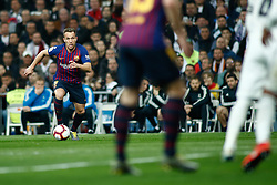 March 2, 2019 - Madrid, MADRID, SPAIN - Arthur of FC Barcelona during the spanish league, La Liga, football match played between Real Madrid and FC Barcelona at Santiago Bernabeu Stadium in Madrid, Spain, on March 02, 2019. (Credit Image: © AFP7 via ZUMA Wire)