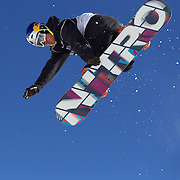 Dimi De Jong, The Netherlands, in action during the Men's Half Pipe Finals in the LG Snowboard FIS World Cup, during the Winter Games at Cardrona, Wanaka, New Zealand, 28th August 2011. Photo Tim Clayton....