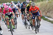 Domenico Pozzovivo (ITA - Bahrain - Merida) during the 101th Tour of Italy, Giro d'Italia 2018, stage 5, Agrigento - Santa Ninfa 152 km on May 9, 2018 in Italy - Photo Luca Bettini / BettiniPhoto / ProSportsImages / DPPI