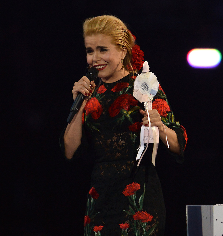 Brit awards 2015 at 02 arena . Pictured Paloma Faith Pic Dave Nelson