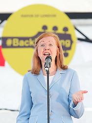 Deputy Mayor of London Lady Victoria Borwick speaking at the Feast of St. George celebrations. Trafalgar Square, London, United Kingdom. Monday, 21st April 2014. Picture by Elliott Franks