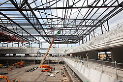 Handball Arena. Interior view of construction of the Handball Arena. Picture taken on 21 Jun 10 by Anthony Charlton.