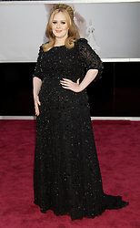Adele arrives at the 85th annual Academy Awards held at the Dolby Theatre in Los Angeles on February 24, 2013. Francis Specker /Landov