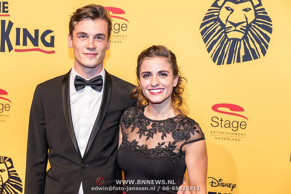NLD/Scheveningen/20161030 - Premiere musical The Lion King, Rosa da Silva en partner Huib Cluistra