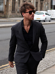 Singer Paolo Nutini arrives at Paisley Sheriff Court where the singer is on trial trial accused of driving under the influence of alcohol while more than twice the legal limit in Paisley.