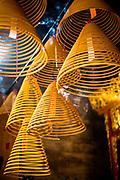 Spiral incense in a Macau temple.