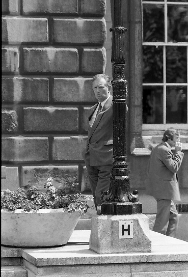Dail Resumes After General Election.  (T3)..1989..29.06.1989..06.29.1989..29th June 1989..After the general election  members of the 26th Dáil arrived in Leinster House, Dublin to take their seats in the parliamentary chamber...Sorry we do not have a caption,can you name him get in touch at irishphotoarchive@gmail.com and we will add to the caption