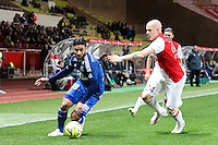 Nabil FEKIR / Andrea RAGGI - 01.02.2015 - Monaco / Lyon - 23eme journee de Ligue 1 -<br />Photo : Eric Gaillard / Icon Sport