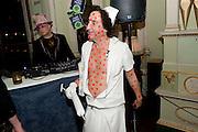 BOY GEORGE; PHILIP SALLON, Philip Sallon's mass paranoia swine flu birthday party. Home House. Portman Sq. London. 13 November 2009.