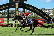 Ryan Elliot on Tony Be wins Race 10, Barfoot & Thompson 1600.<br /> Vodafone Derby Day at Ellerslie Race Course, Auckland on Sunday 7th March 2021 during lockdown level 2.<br /> Copyright photo: Alan Lee / www.photosport.nz