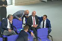 DEU, Deutschland, Germany, Berlin, 25.08.2021: Rüdiger Lucassen (MdB, AfD), AfD-Parteichef Tino Chrupalla (AfD) und weitere AfD-Abgeordnete in der Plenarsitzung im Deutschen Bundestag.