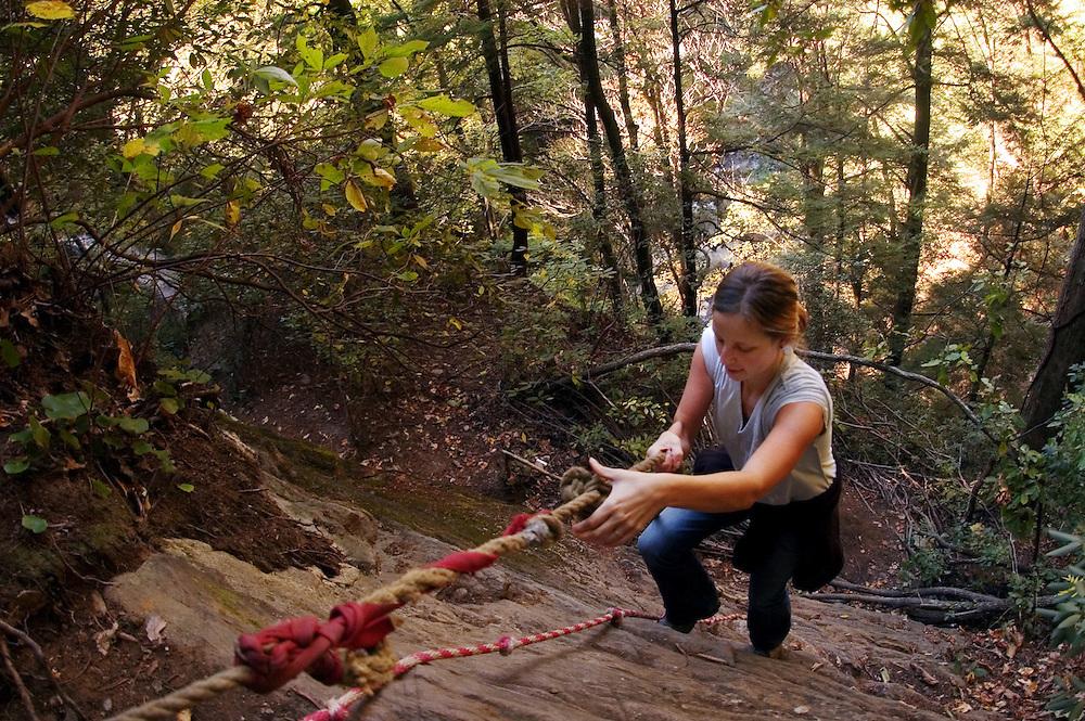 Sarah VDP hikes through Pisgah National Forest near Asheville, North Carolina.