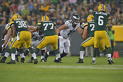Brian Milhalik  against the Green Bay Packers at Lambeau Field on August 29, 2015 in Green Bay, Pennsylvania. The Eagles won 39-26. (Photo by Drew Hallowell/Philadelphia Eagles)
