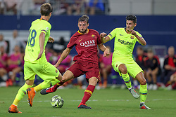July 31, 2018 - Arlington, TX, U.S. - ARLINGTON, TX - JULY 31: AS Roma midfielder Bryan Cristante (4) shoots and scores a goal during the International Champions Cup between FC Barcelona and AS Roma on July 31, 2018 at AT&T Stadium in Arlington, TX.  (Photo by Andrew Dieb/Icon Sportswire) (Credit Image: © Andrew Dieb/Icon SMI via ZUMA Press)