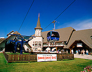 THIS PHOTO IS AVAILABLE FOR WEB DOWNLOAD ONLY. PLEASE CONTACT US FOR A LARGER PHOTO. Idaho. Kellogg. Silver Mountain Gondola, world's longest gondola.