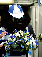Photo: Leigh Quinnell.<br /> Queens Park Rangers v Southampton. Coca Cola Championship. 01/09/2007. The QPR mascot lays flowers in memory of player Ray Jones who died in a car crash.
